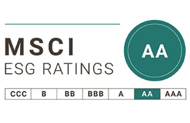 ESG performance rated AA – Leader in 2020
